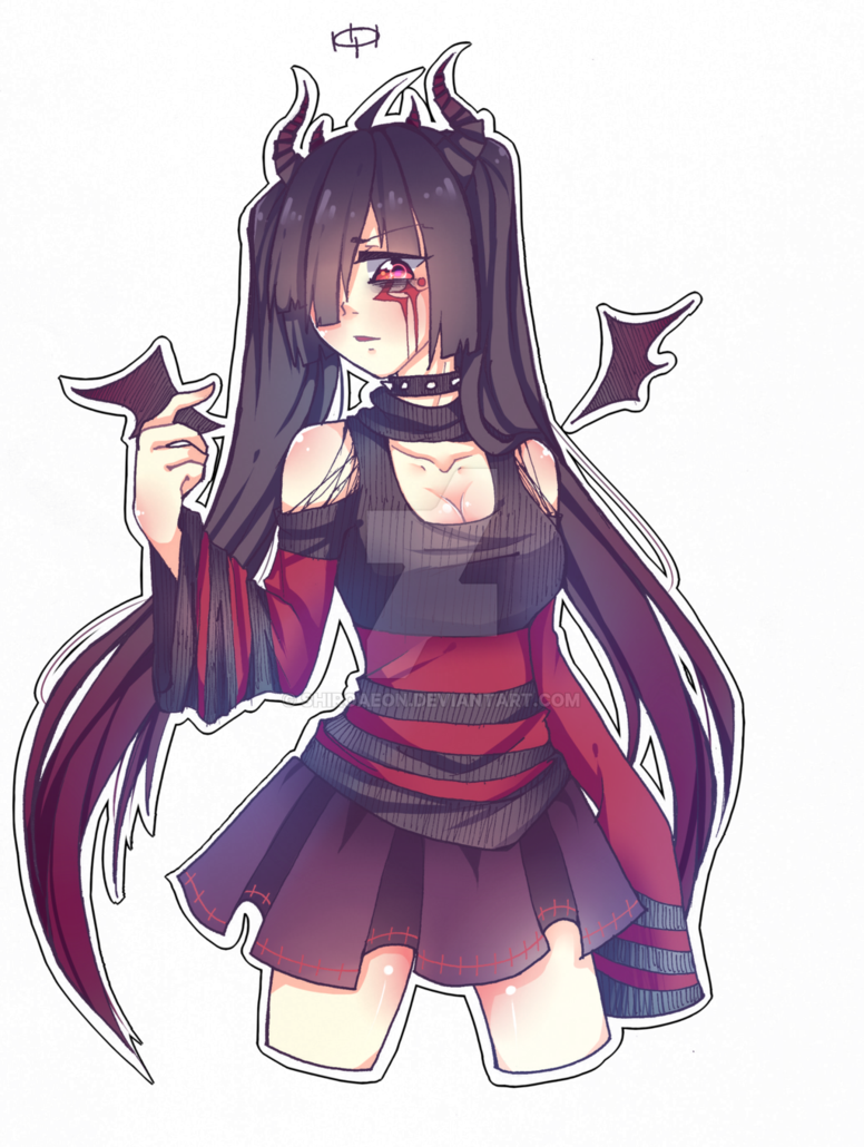 Anime Demon Png Cute Anime Demon Girl Clipart Large Size Png Image Pikpng