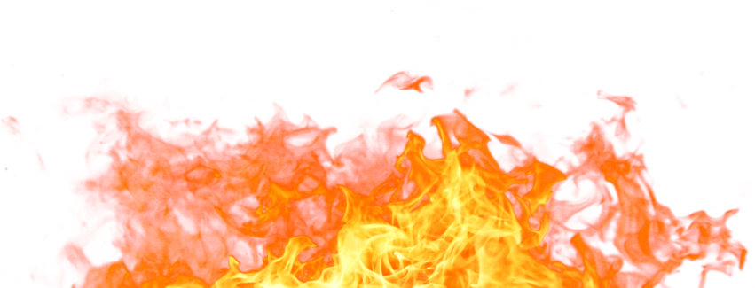 Free Png Fire Flame Png - Transparent Background Flames Transparent Clipart (850x373), Png Download