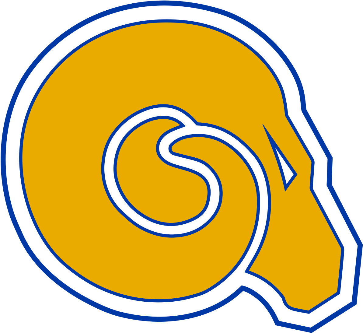 Download Albany State Golden Rams - Albany State Athletics Logo Clipart Png Download - PikPng