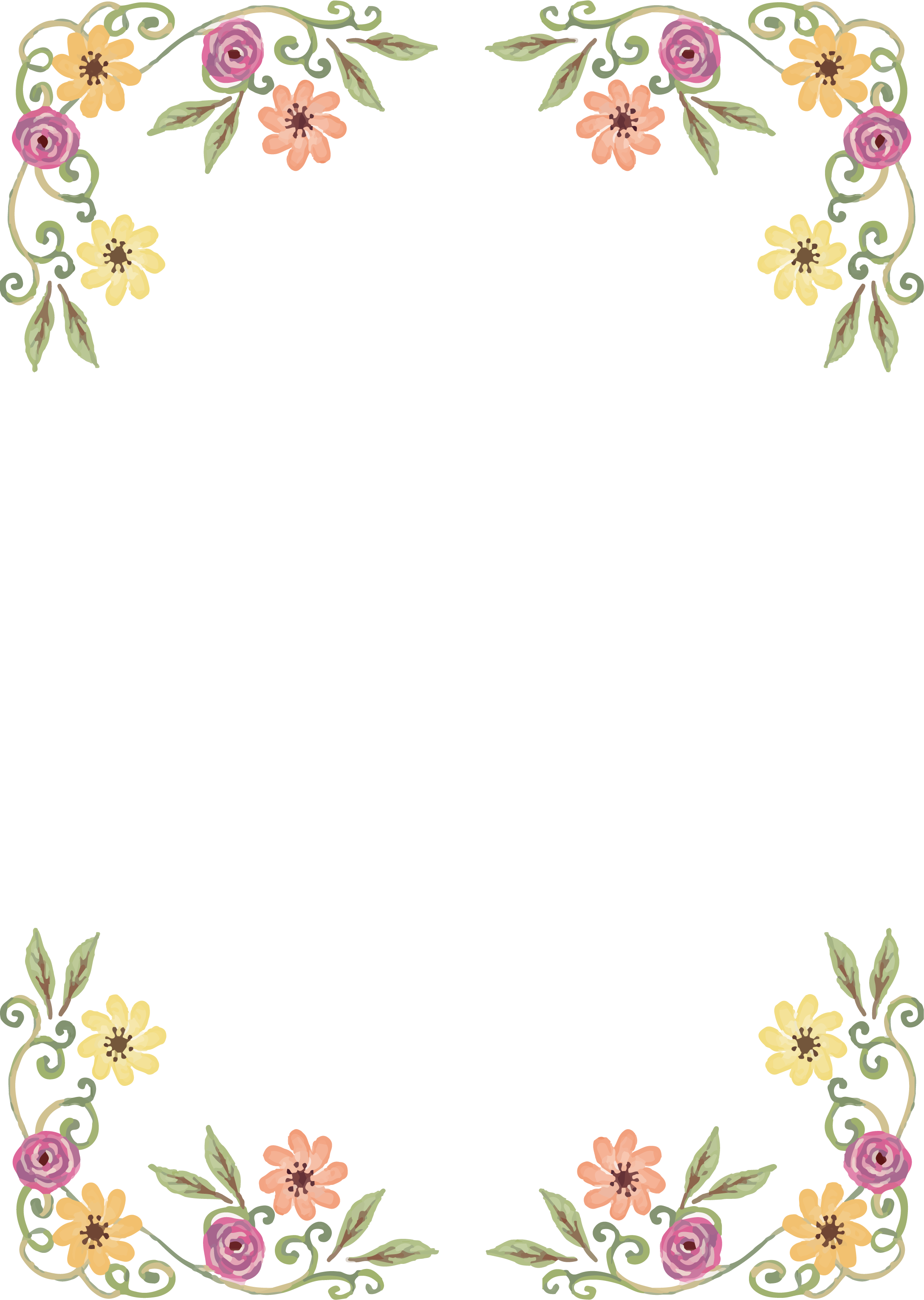 Download Png Black And White Library Design Border Of Wild ...