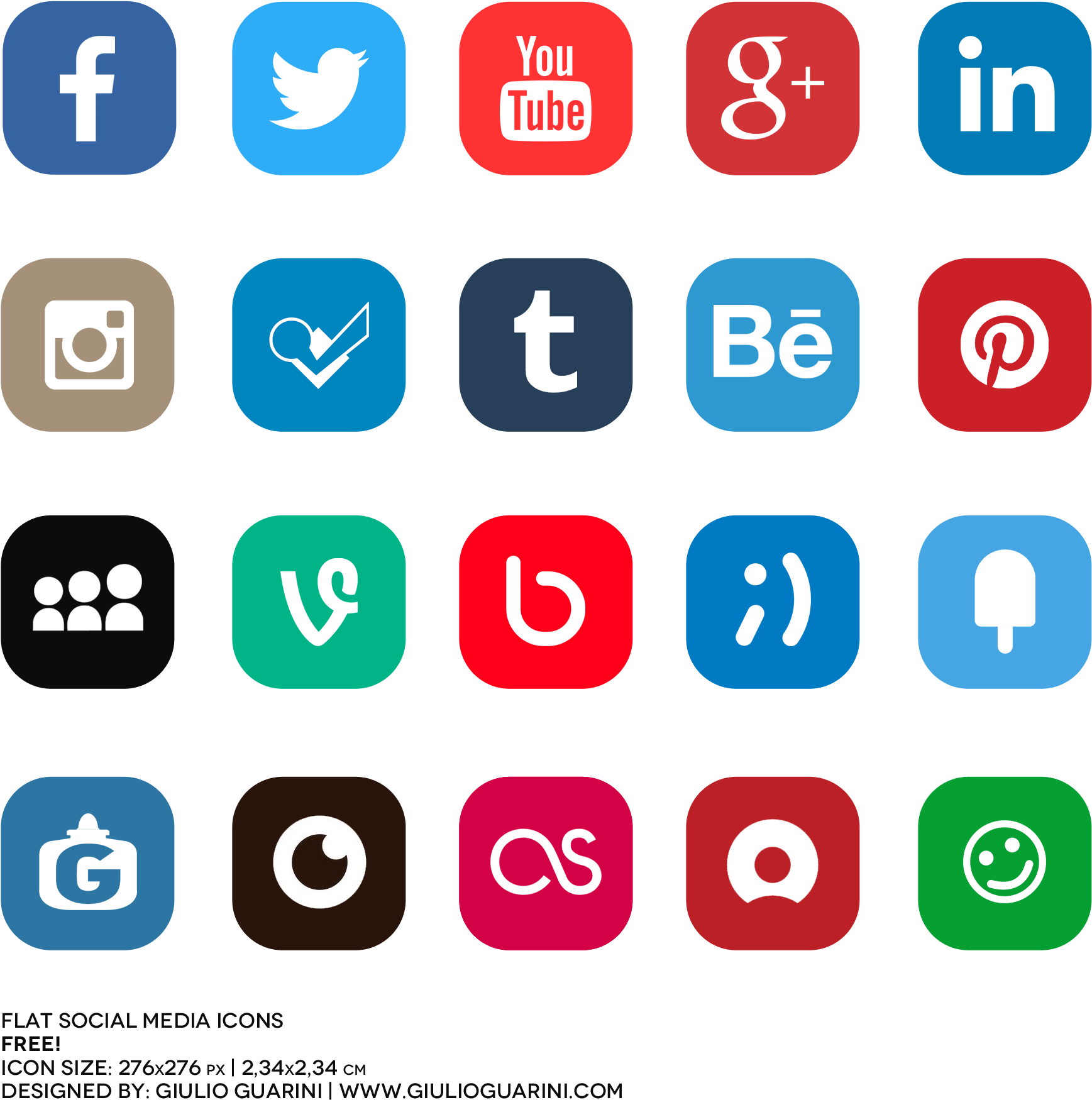 Download 2000 X 2000 7 - Social Media Icon Hd Png Clipart ...