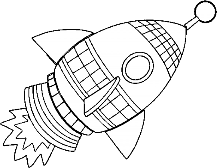 Picture Of Rocket Ship Coloring Pages Of Rockets Clipart Large Size Png Image Pikpng