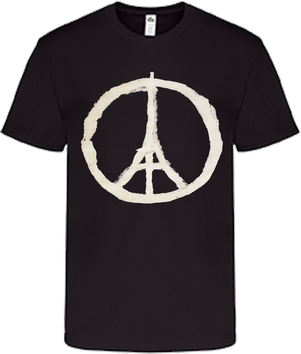Peace Sign Eiffel Tower - Raiders Golden Knights Shirt Clipart (1075x1433), Png Download