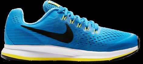 Nike Zoom Pegasus 34 Gs Blue Black Kids Running Shoes - Vans Old Skools Blue Clipart (640x640), Png Download