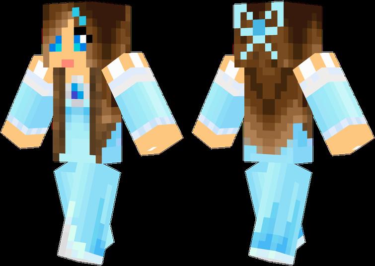 Ice Princess Minecraft Skins Cool, Minecraft Food, - Skin Minecraft Fille Princesse Clipart (755x536), Png Download