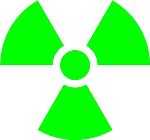 600 X 600 6 - Radioactive Symbol Png Clipart (600x600), Png Download