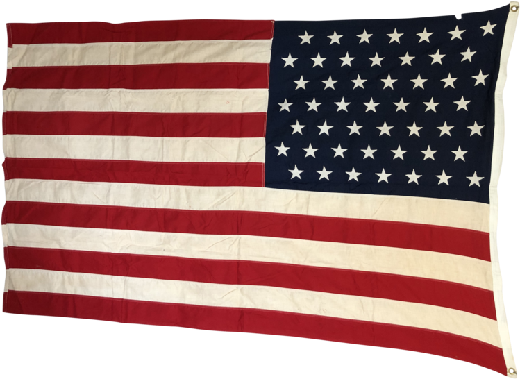 49 Star Flag, Vintage Annin Defiance American Flag - Flag Of The United States Clipart (749x546), Png Download