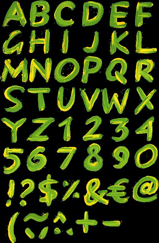 Paint A Transparent Letter Font - Calligraphy Clipart (525x818), Png Download