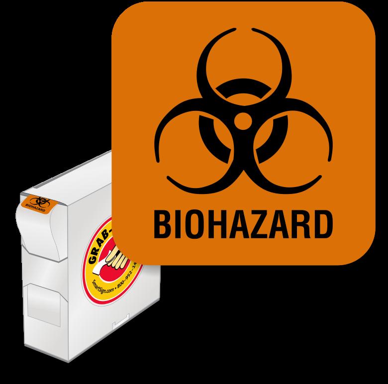 Biohazard Label - Biohazard Symbol Clipart (800x800), Png Download