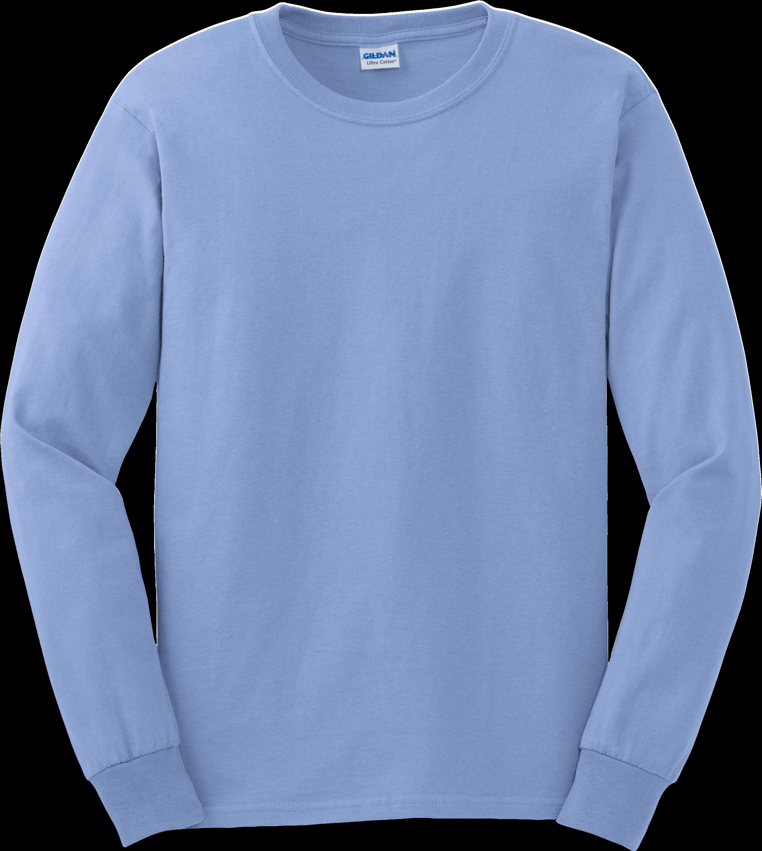 Gildan Long Sleeve T Shirt - Long Sleeve T Shirt Gildan Clipart (3000x3000), Png Download