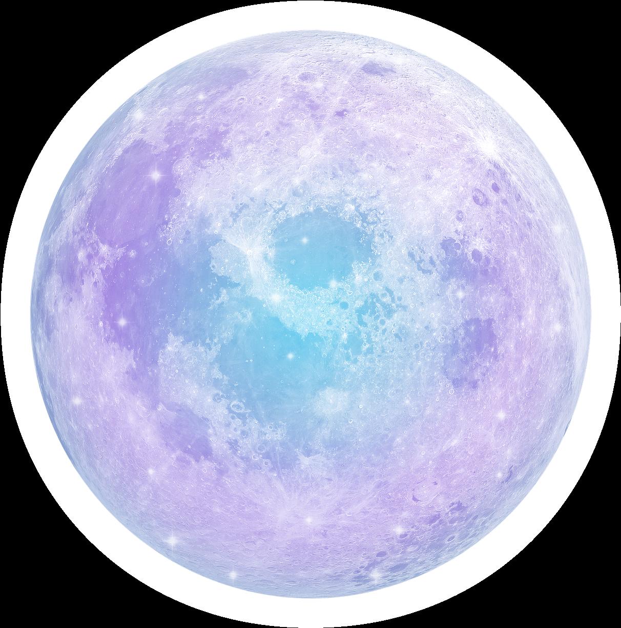 Pink Moon - Pastel Moon Transparent Clipart - Large Size ...