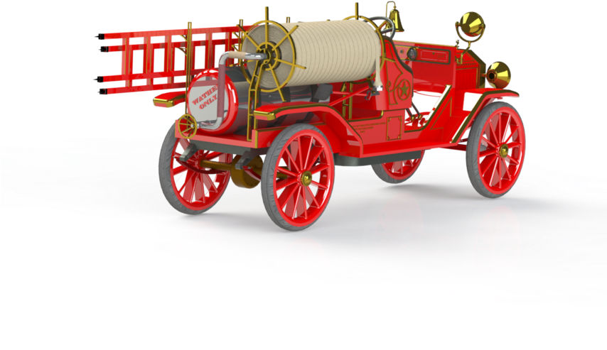 Antique Car Clipart (853x640), Png Download