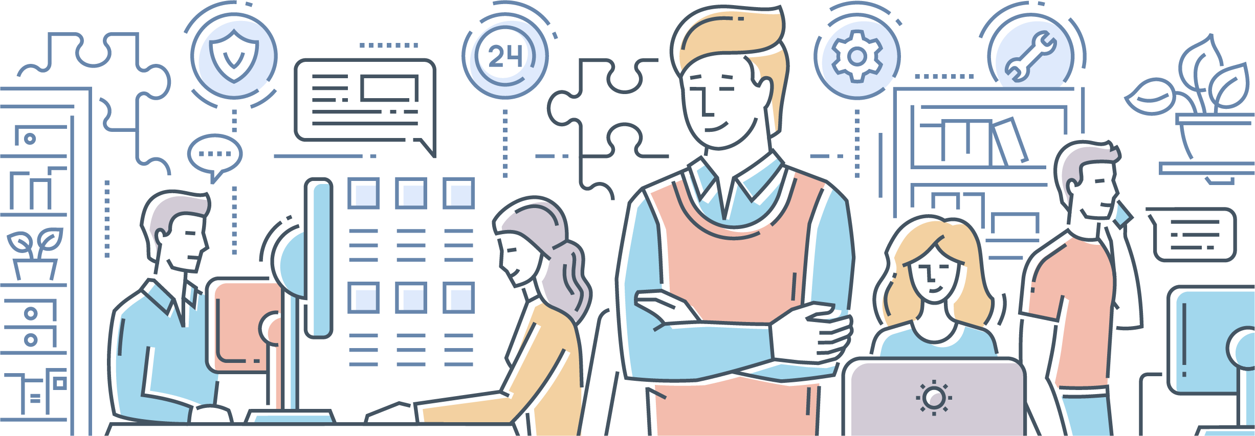 If You Are A Human And Are Seeing This Field, Please - Our Services Team Work Images Vector Clipart (2453x853), Png Download