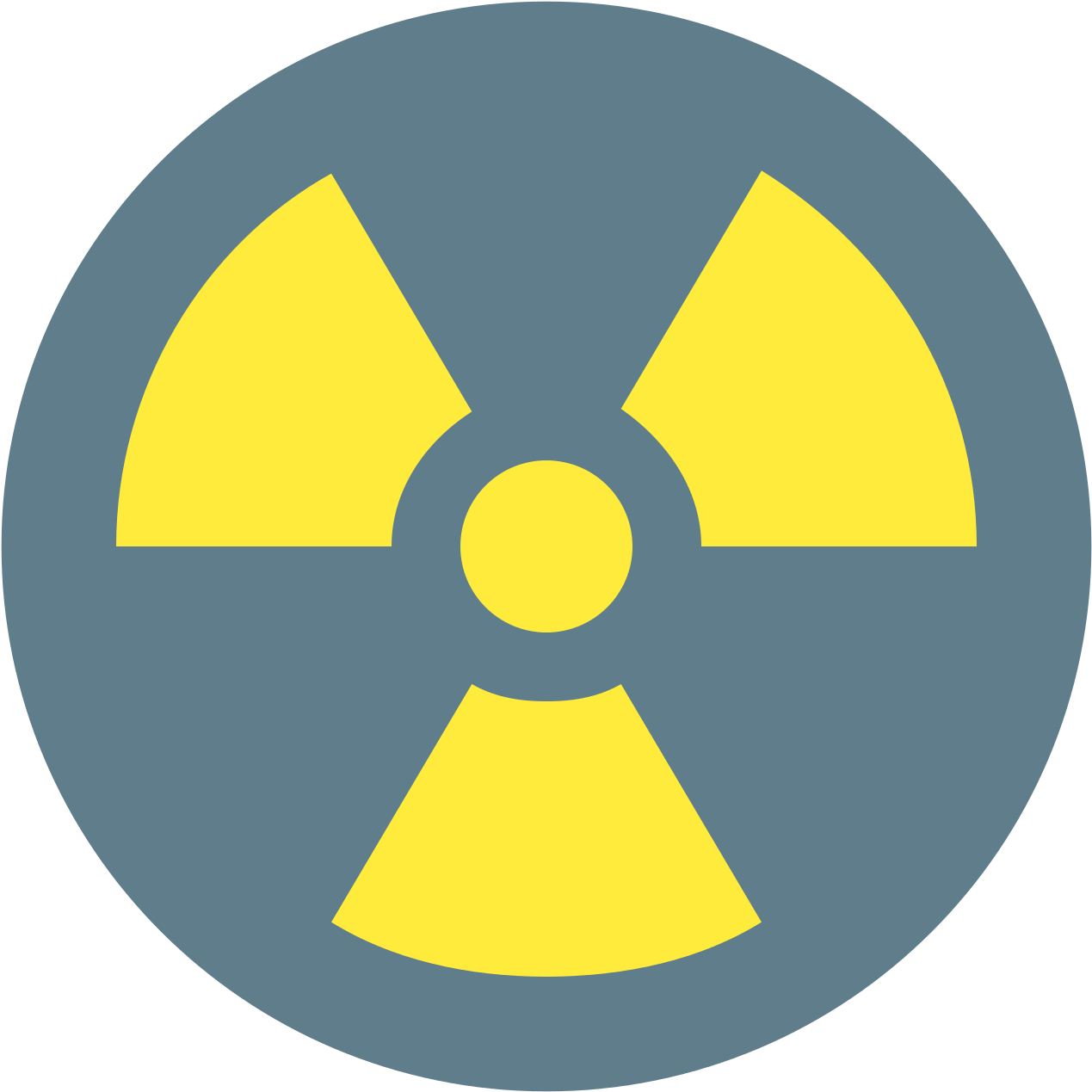 Radio Active Icon - Radioactive Safety Symbol Clipart (1600x1600), Png Download