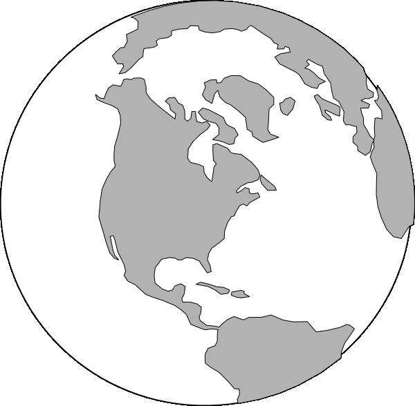 World Globe Logo Clip Art Black And White 191713 - Map Clipart Black And White World - Png Download (600x588), Png Download