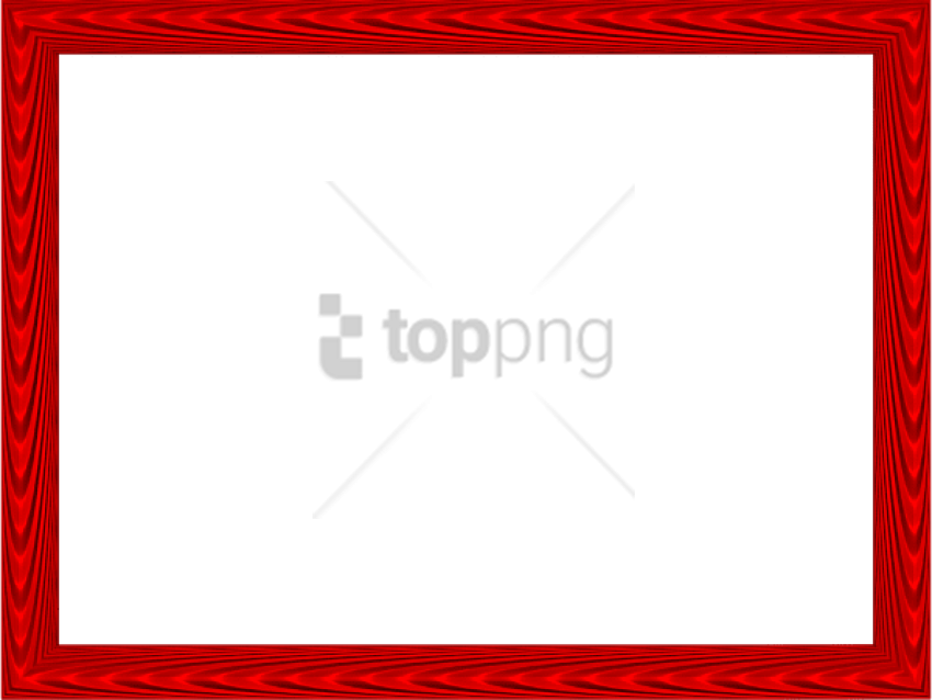 Free Png Red Border Design Png Image With Transparent - Picture Frame Clipart (850x638), Png Download