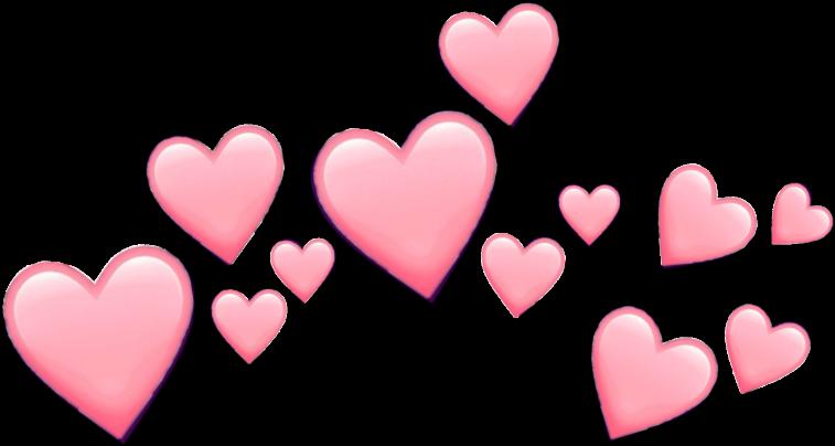 #pink #hearts #emoji #pinkemoji #heart #heartemoji - Love Hearts Emoji Png Clipart (1024x1024), Png Download