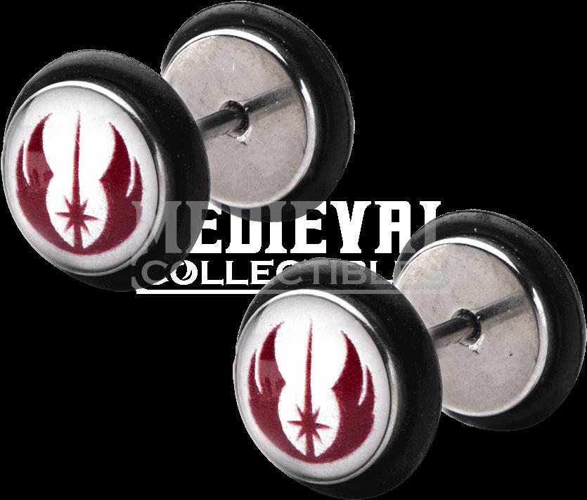 Star Wars Jedi Order Symbol Screw Back Earrings - Earrings ...