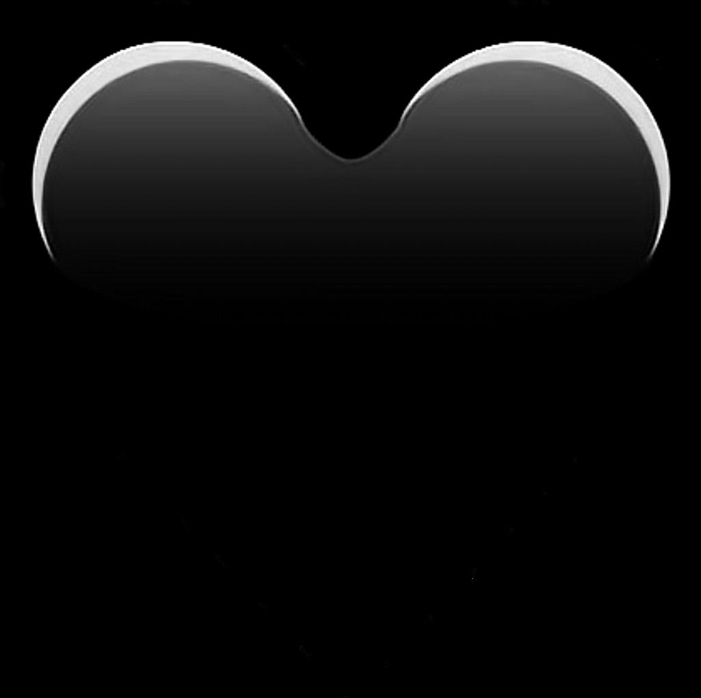Heart Emoji Blackheart Black - Iphone Heart Emoji Png Clipart (1024x1019), Png Download