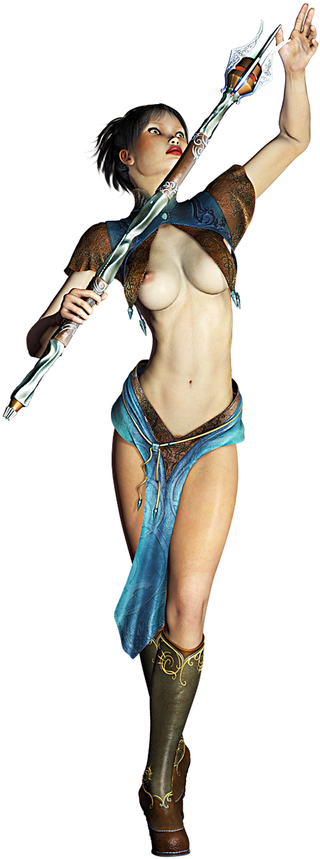 3d Animation Women Sexy Clipart (709x1280), Png Download