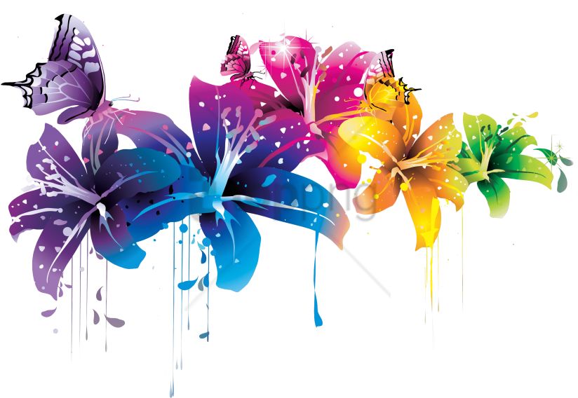 Free Png Download Colorful Background Designs Png Png - Flower Png Transparent Abstract Clipart (824x568), Png Download