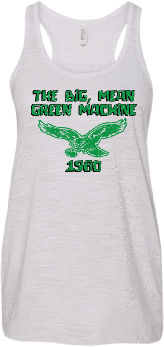 1980 Philadelphia Eagles Inspired Flowy Racerback Tank - Active Tank Clipart (543x1149), Png Download