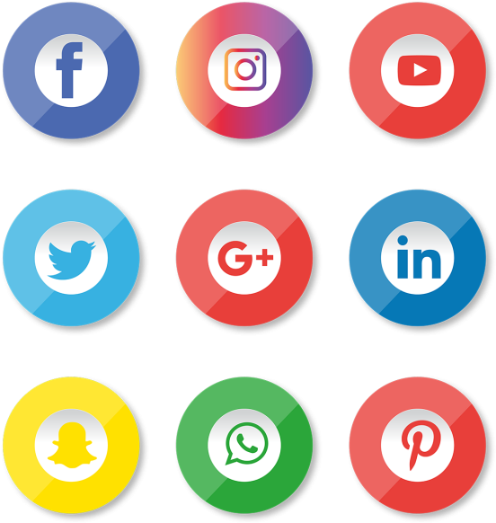 Facebook Instagram Youtube Logo Png Clipart (640x640), Png Download
