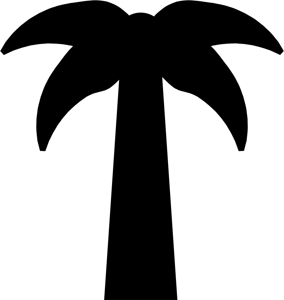 Palm Tree Icon Png Clipart (928x981), Png Download