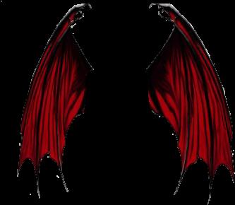 Stickergang Red Dragon Demon Wings Fly Sweet Demon Wings