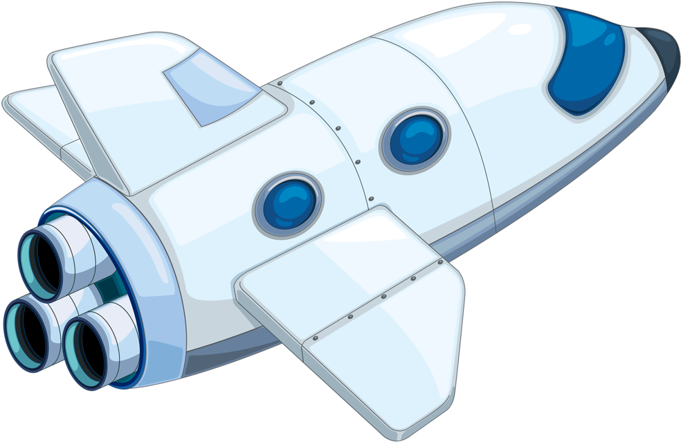 Download Space Clipart Kid Png - Cartoon Space Shuttle ...