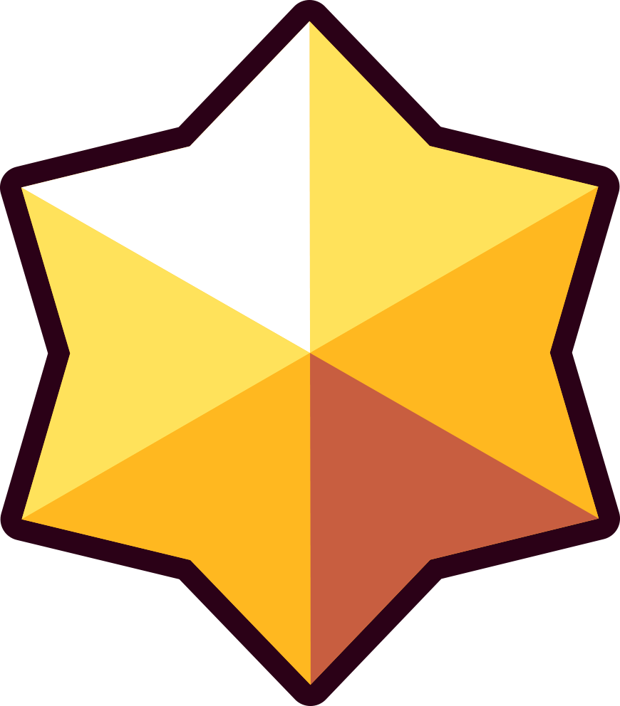 Brawl Stars Render Png , Png Download - Brawl Stars Gold Star Clipart (870x992), Png Download