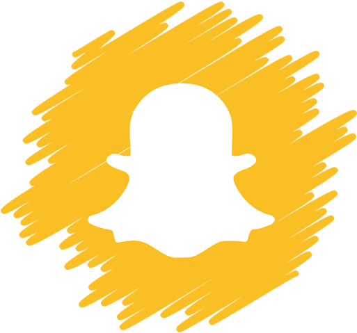 Snapchat Logo Png Snapchat Icon Png Orange Clipart Large Size Png Image Pikpng