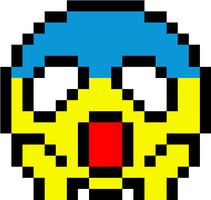 Emoji Pixel Art - Emoji Pixel Art Drawing Clipart (1184x1184), Png Download