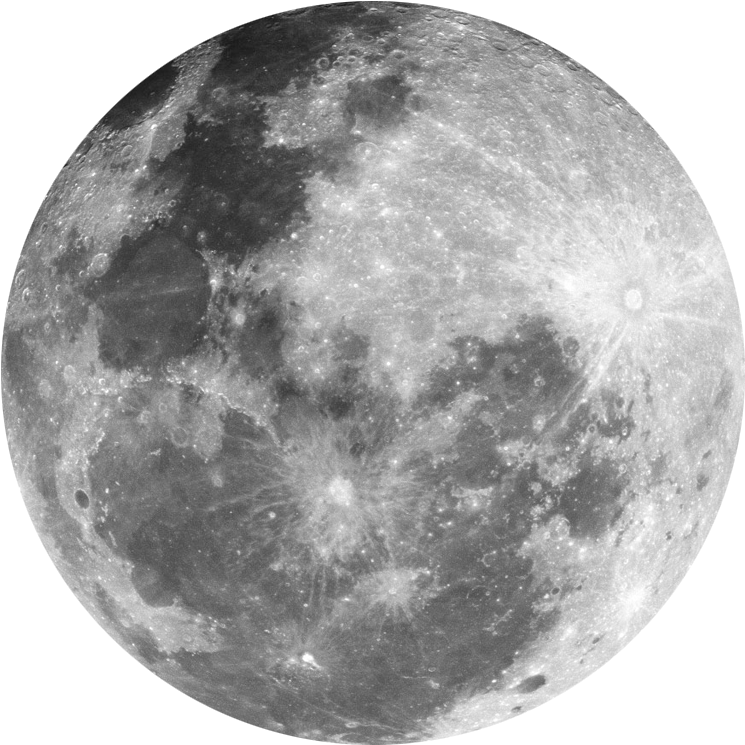 Moon Png - Transparent Background Full Moon Png Clipart (1024x1024), Png Download