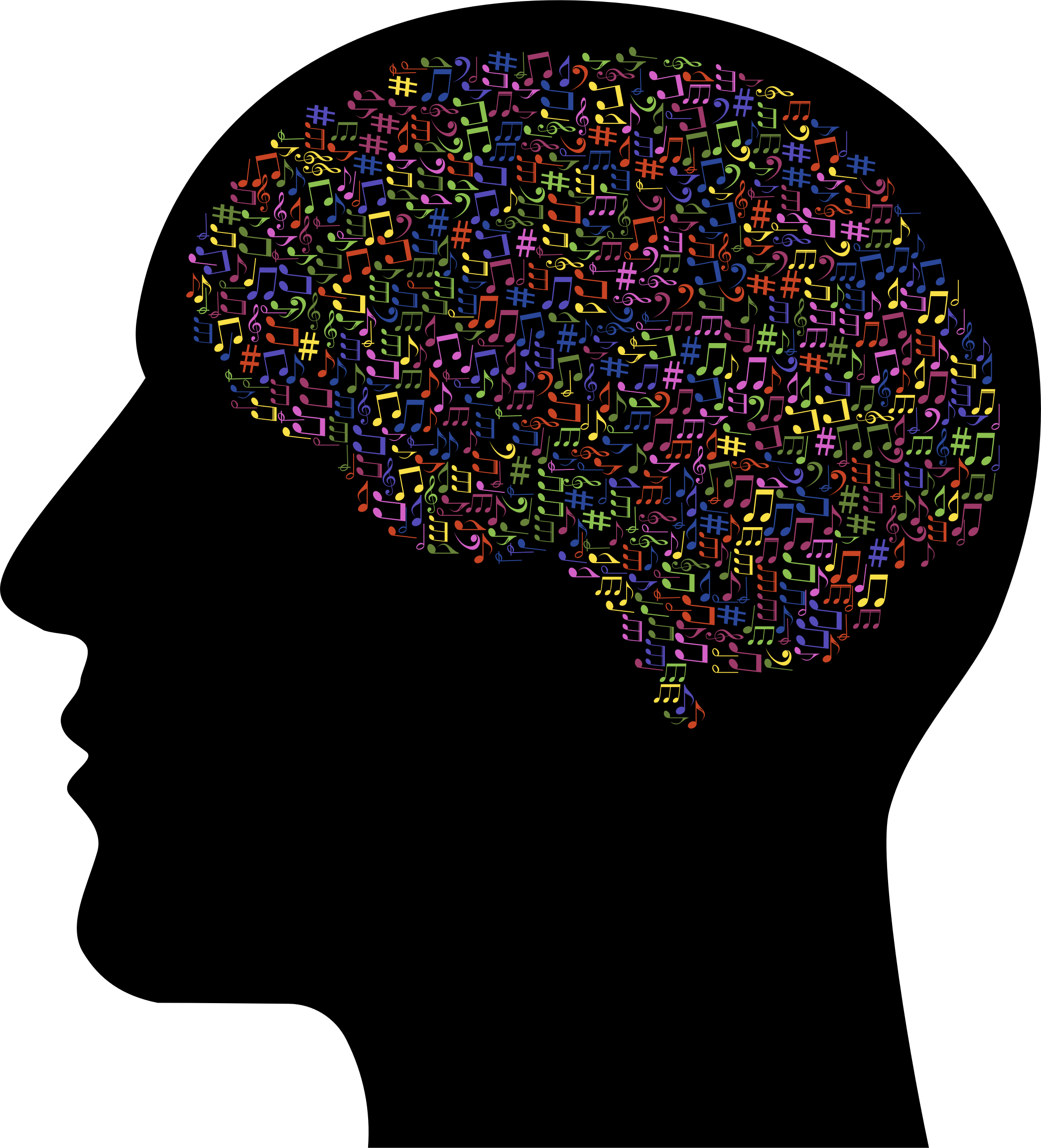 Brain Clipart Music - Brain In Skull Clip Art - Png Download (2090x2306), Png Download