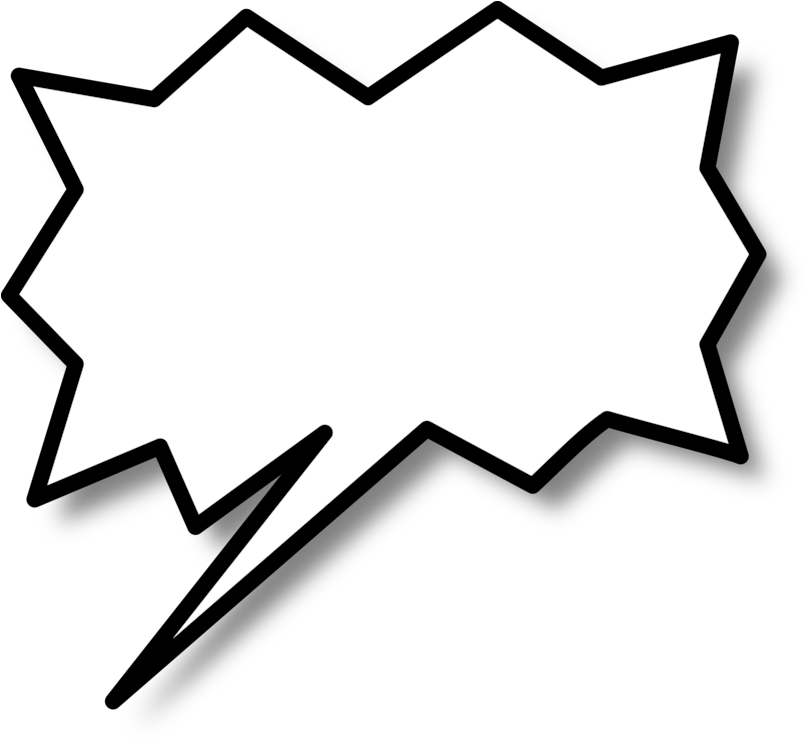 Comic Book Text Bubble Png - Call Out Shape Png Clipart (807x750), Png Download