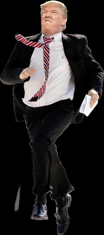 Donald Trump Running Transparent Clipart (625x813), Png Download