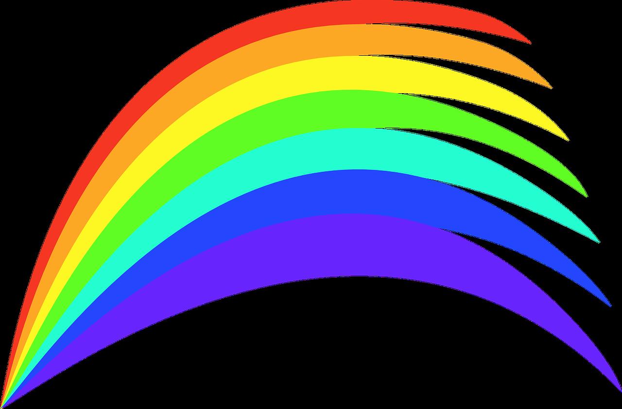 Rainbow Colours Colourful Paints Png Image - Rainbow Clipart Transparent Png (1280x843), Png Download