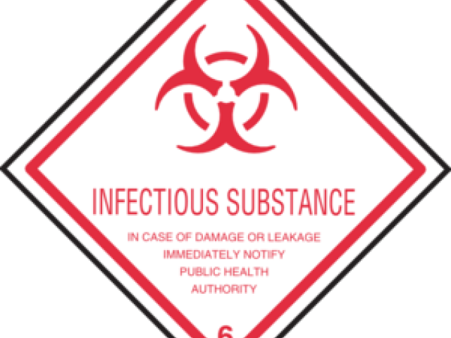 Biohazard Symbol Clipart Infectious Substance - Infectious Substance - Png Download (640x480), Png Download