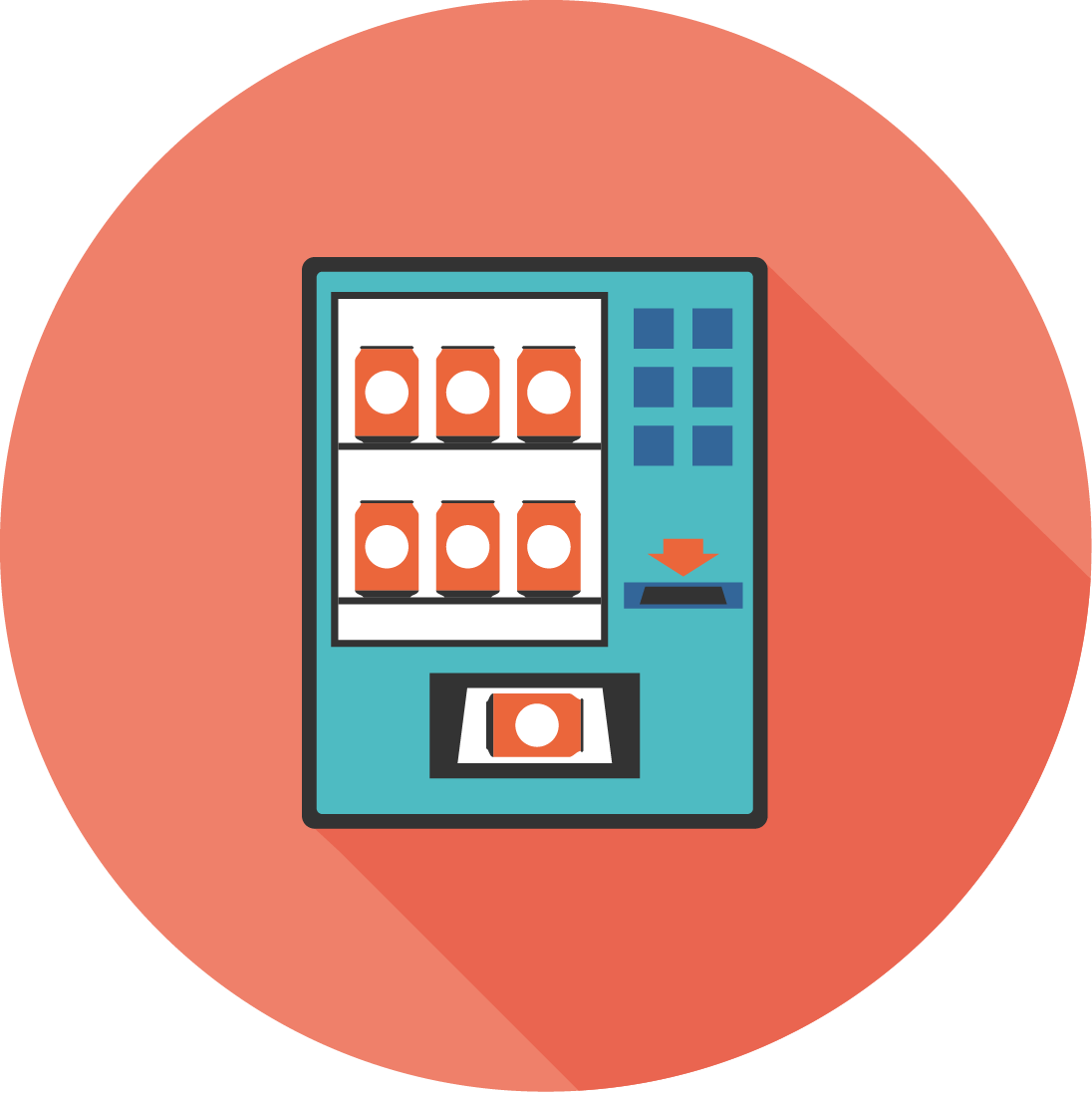 Buy It Supplies From Vending Machines - Circle Clipart (1096x1101), Png Download