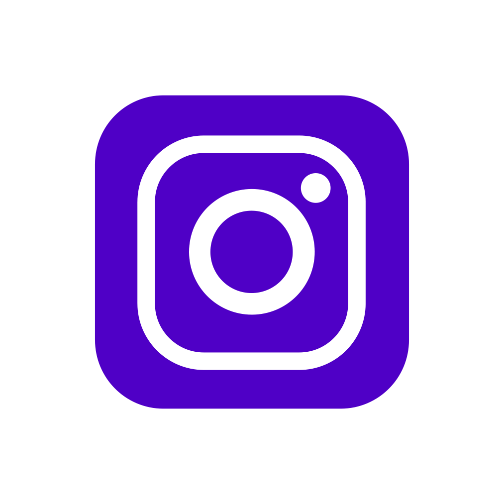 Purple Social Media Icons Png - Instagram Clipart (1013x1013), Png Download