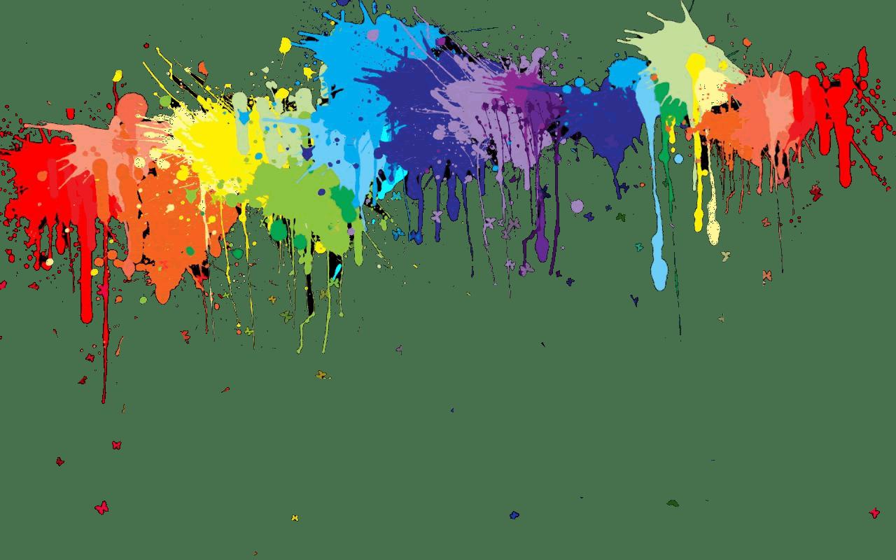 Explosao De Tinta Png - Rainbow Paint Splatter Clipart ...
