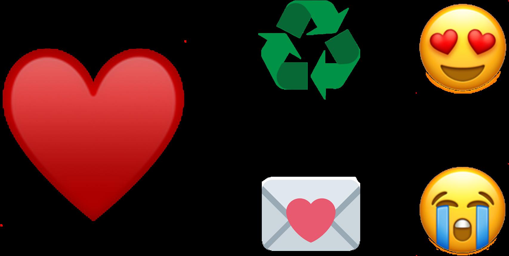 En Séptima Posición Está La Sonrisa Y En Octava Lo - Recycle Symbol Clipart (1984x1042), Png Download