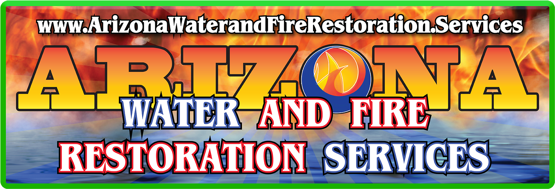 Directory Listings For Water And Fire Restoration And - Majorelle Blue Clipart (1920x720), Png Download