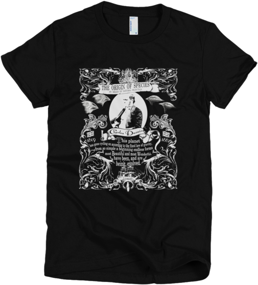 Charles Darwin Origin Of Species Graphic T Shirt - Puce Mary T Shirt Clipart (600x600), Png Download