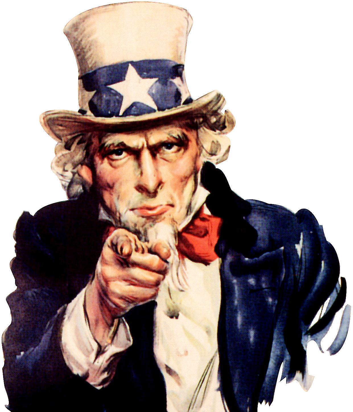 Uncle Sam We Want You - Uncle Sam I Want You Poster Clipart (1271x1476), Png Download