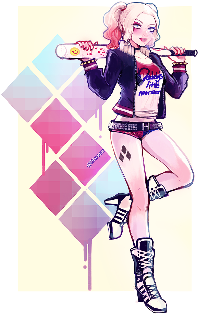 Harley Quinn From Suicide Squad Harley Quinn Fan Art Transparent Clipart Large Size Png Image Pikpng