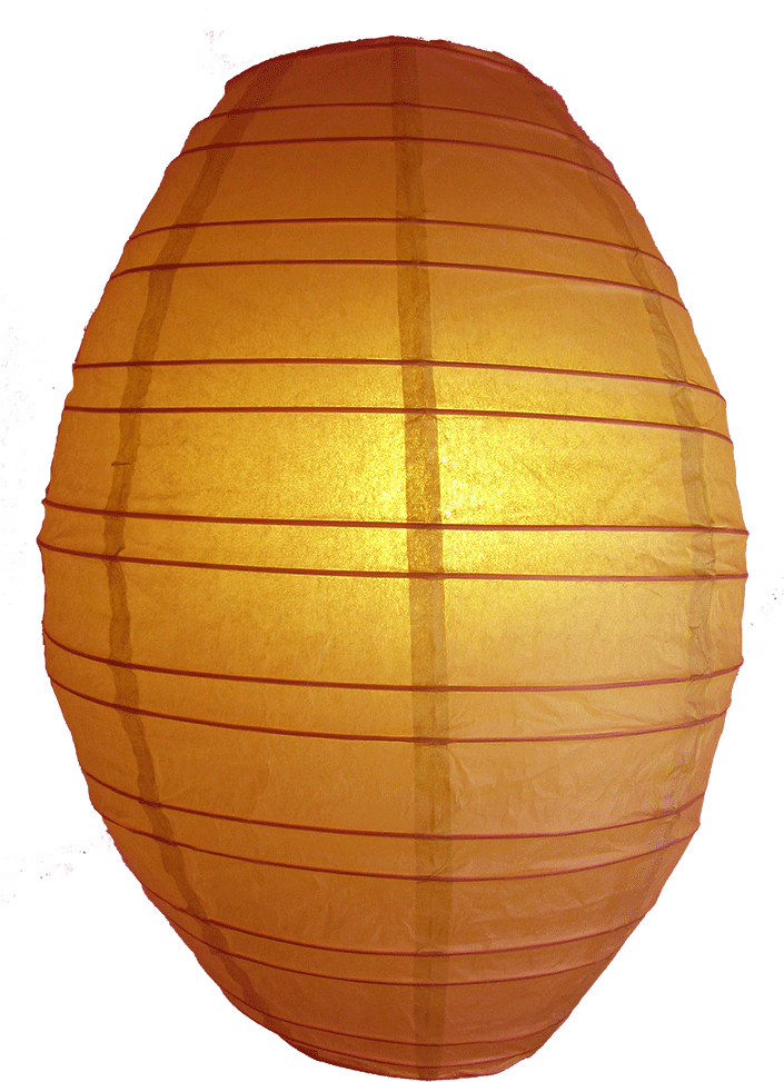 Olive Shaped Lanterns Orange - Lampshade Clipart (1000x1000), Png Download