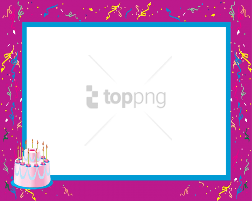Free Png Borders And Frames For Kids Png Png Image - Birthday Clipart (850x680), Png Download