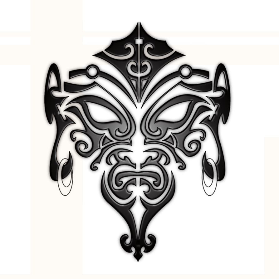 Maori Polynesian Tattoo On The Back Photo Maori Face Tattoo Designs Clipart Large Size Png Image Pikpng